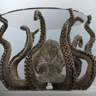 Bronze octopus table by Alex C Friend
