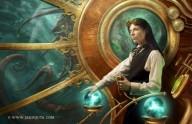 Steampunk lady captain by Jason Juta