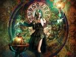Lady magician wallpaper