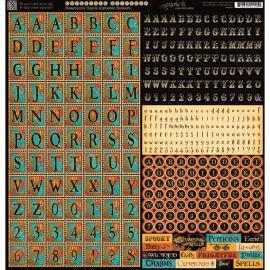 Alphabet stickers to match Steampunk Spells