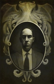 """From this Well Madness Springs"", H. P. Lovecraft by Travis Lewis"
