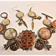 Necklace and earrings by Angela Venable