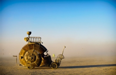 Burning man snail