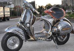Cris Cositis has done several steampunk vespas