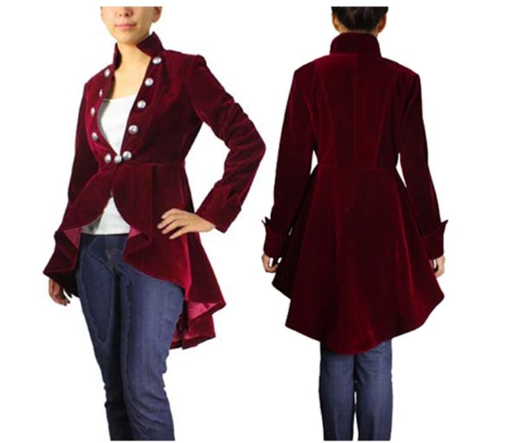 Blueberry Hill long velvet coat