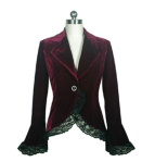 Blueberry Hill short velvet coat