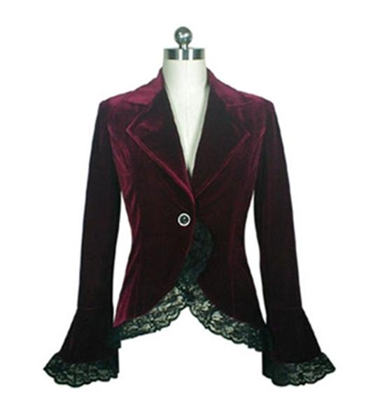 Blueberry Hill short velvet coat