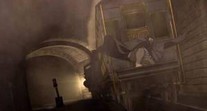 Hyde on train