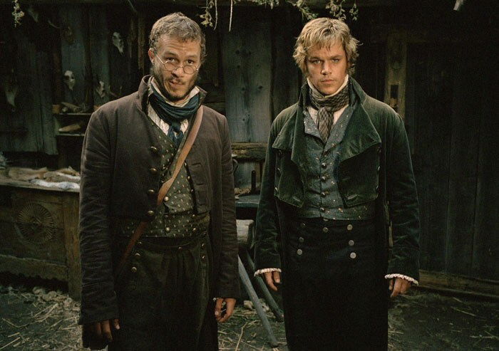 Heath Ledger and Matt Damon as the Brothers Grimm
