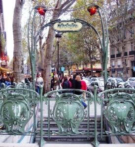 Metro gate, Paris