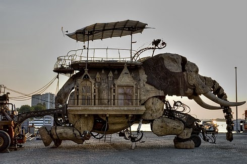 Elephant car from SF Gate newspaper