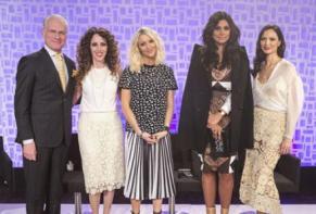 Judges (L to R): Tim Gunn (host), Jen Rade, Zanna Roberts Rassi, Rachel Roy