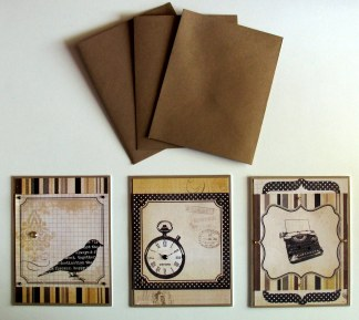 Set of 3 coordinated cards