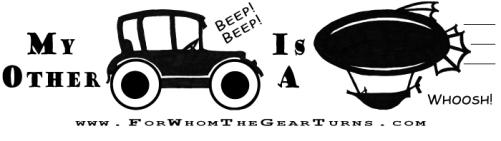 Bumper Sticker to go with my Steampunk Zine!