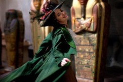 Louise Bourgoin as Adele, in her iconic green coat in the comics
