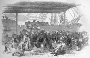 Embarkation at Waterloo Docks, circa 1850