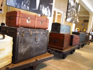 Antique trunks on Ellis Island