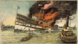 Only 300 of the approx. 1300 people survived this tragedy in the New York Bay in 1904.