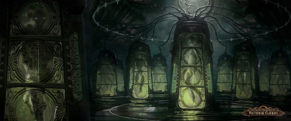 Concept art for steampunk movie Adventures of Victoria Clarke