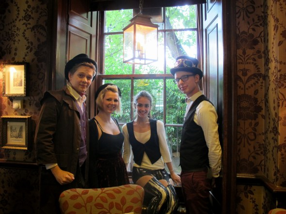 A big thanks to the cast and crew who met me at the Conan Doyle to discuss the show! From left to right: Jamie Loyn, Emma Fleming, Zoe McGee, Filip Ferdinand Falk Hartelius.