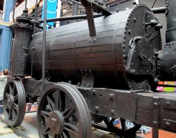 This is one of the oldest original steam engines in the world. It was built in 1813 and was used to move coal.