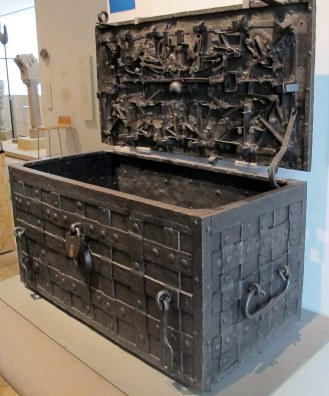 This sea chest with the elaborate security system caught my eye immediately.