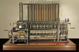 Babbage later designed a simpler difference engine that was not built until the 20th century, on display at the Computer History Museum