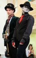 A couple members of Steam Powered Giraffe joined in the fun