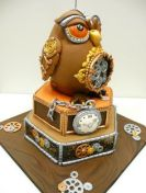 owl cake, artist unknown