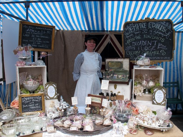 Empire Edibles stall at the Castle Market