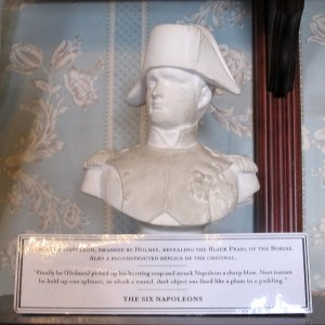 Napolean bust at the Sherlock Holmes Museum, London