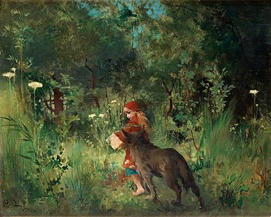 Carl_Larsson_-_Little_Red_Riding_Hood_1881