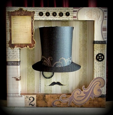 """Dandy"" 12x12 Shadowbox"