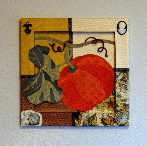 Pumpkin Altered Canvas