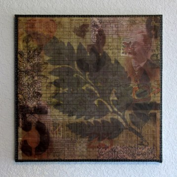 12x12 Altered Canvas with Fern