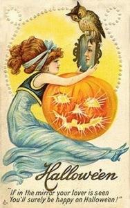 romvintage-halloween-cards-vintage-mirror