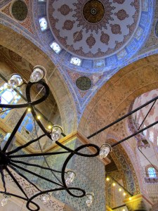 Taken while lying on the floor of the Blue Mosque in Istanbul